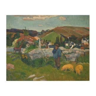 Impressão Em Madeira Paul Gauguin o Swineherd