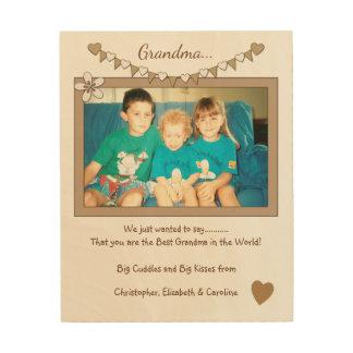Impressão Em Madeira Personalizado para a estamenha da foto das avós