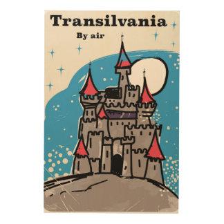 Impressão Em Madeira Poster das viagens vintage do castelo da