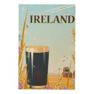 Impressão Em Madeira Poster de viagens da paisagem da pinta de Ireland
