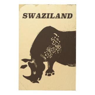 Impressão Em Madeira Poster de viagens do estilo do vintage do