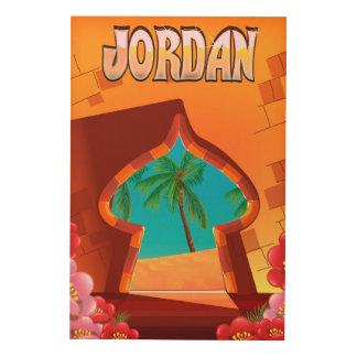 Impressão Em Madeira Poster de viagens do palácio de Jordão