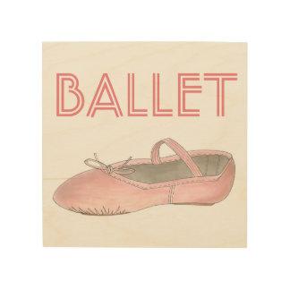 Impressão Em Madeira Presente cor-de-rosa da decoração do estúdio da