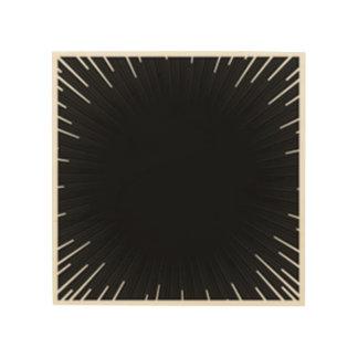 Impressão Em Madeira preto