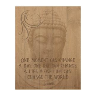 Impressão Em Madeira Provérbio budista de pensamento positivo da