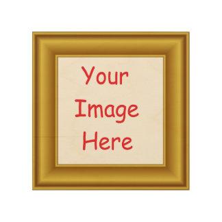 Impressão Em Madeira Quadro personalizado costume da imagem & do ouro