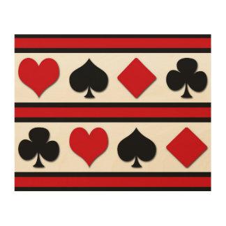 Impressão Em Madeira Quatro ternos do cartão
