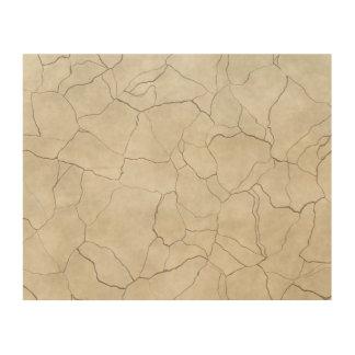 Impressão Em Madeira Rachaduras no fundo Textured bege