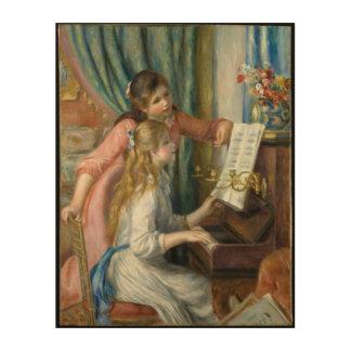 Impressão Em Madeira Raparigas no piano - Pierre Renoir