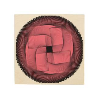 Impressão Em Madeira retângulo