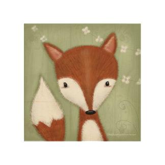 Impressão Em Madeira Retrato do Fox