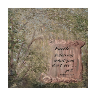 Impressão Em Madeira Rolo da fé