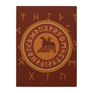 Impressão Em Madeira Runes de Viking