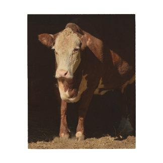 Impressão Em Madeira Segunda-feira de manhã vaca do Grump