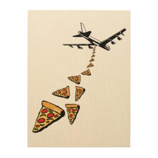 Impressão Em Madeira Sem guerra mais pizza