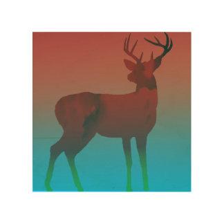 Impressão Em Madeira Sonho dos cervos