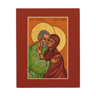 Impressão Em Madeira Sts. Anna & Joachim - ícone do amor marital