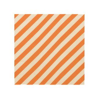 Impressão Em Madeira Teste padrão diagonal alaranjado e branco das
