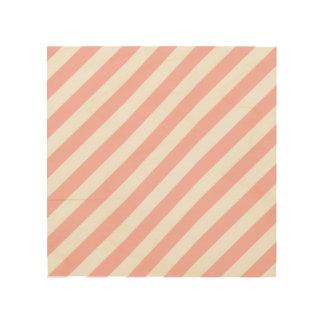 Impressão Em Madeira Teste padrão diagonal do rosa e o branco das