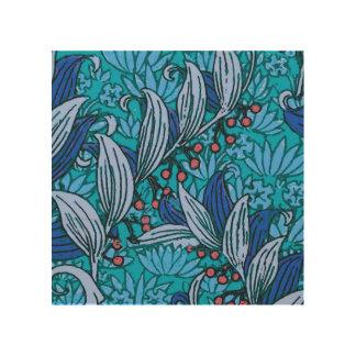 Impressão Em Madeira Teste padrão floral azul brilhante