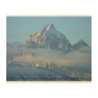 Impressão Em Madeira Tetons Wyoming, uma tapeçaria inspirada