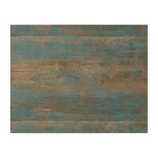 Impressão Em Madeira Textura azul da madeira da praia do falso