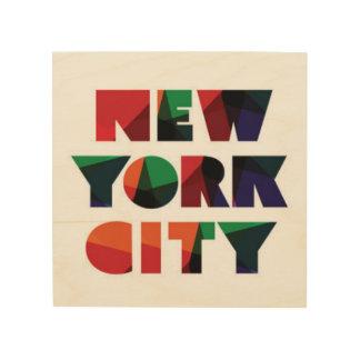 Impressão Em Madeira Tipografia corajosa da Nova Iorque |