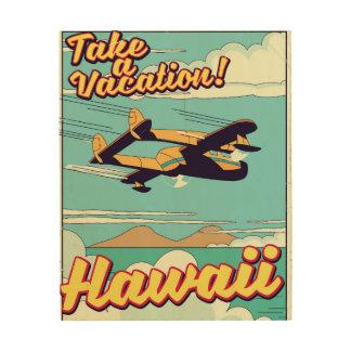 Impressão Em Madeira Tome umas férias! Desenhos animados do viagem de