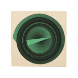 Impressão Em Madeira triângulo verde