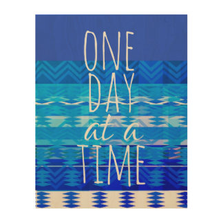 Impressão Em Madeira um dia em umas citações do tempo no painel de