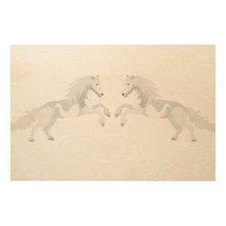 Impressão Em Madeira Unicórnio do branco da ilustração