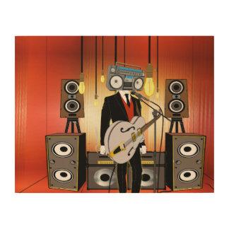 Impressão Em Madeira Vintage Audiophile
