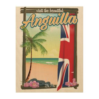 Impressão Em Madeira Visite o poster de viagens bonito de Malvinas