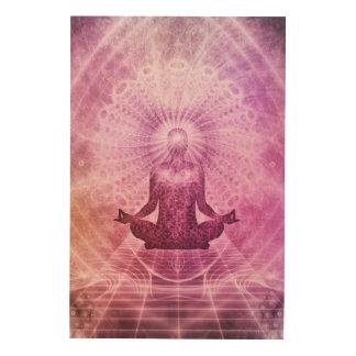 Impressão Em Madeira Zen espiritual da meditação da ioga colorido