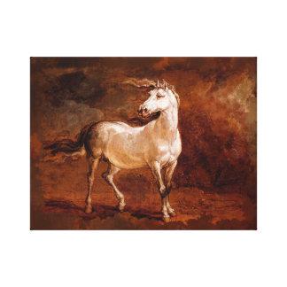 """Impressão Em Tela 14"""" x 11"""", 1,5"""", pintura do cavalo"""