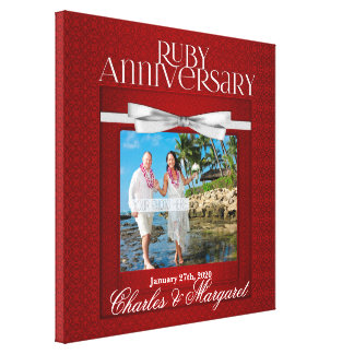 Impressão Em Tela 16x16 costume da foto do aniversário do rubi 60th