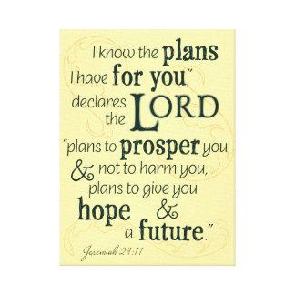 Impressão Em Tela 29:11 de Jeremiah eu sei os planos que eu tenho