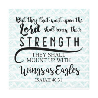 Impressão Em Tela 40:31 KJV de Isaiah