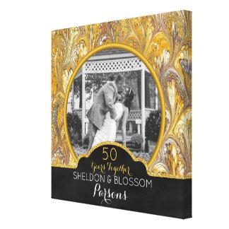 Impressão Em Tela 50th Ouro da foto do aniversário de casamento 50