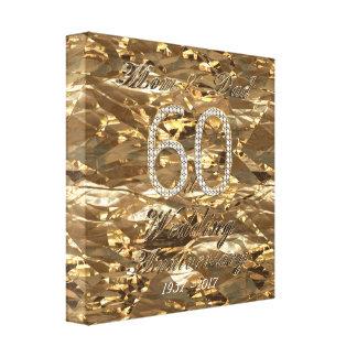 Impressão Em Tela 60th Pais do casamento de diamante do aniversário