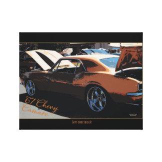 Impressão Em Tela 67' Chevy Camaro