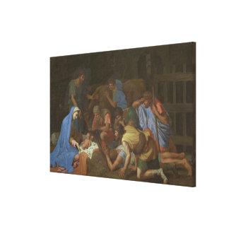 Impressão Em Tela A adoração dos pastores cerca de 1653
