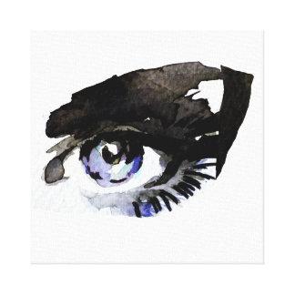 Impressão Em Tela A aguarela roxa eyes a marcagem com ferro quente