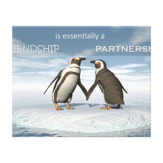 Impressão Em Tela A amizade é essentailly uma parceria