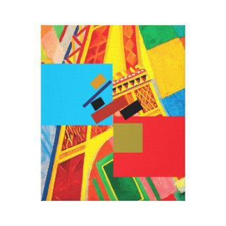 Impressão Em Tela A arte do equilíbrio (Suprematism & torre Eiffel)
