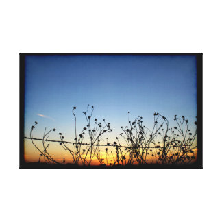 Impressão Em Tela A dança no pôr-do-sol