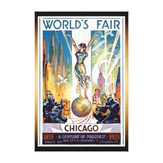 Impressão Em Tela A feira de mundo 1933 de Chicago - art deco retro