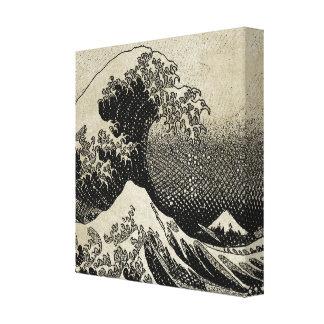 Impressão Em Tela A grande onda fora de Kanagawa (神奈川沖浪裏)