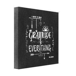 Impressão Em Tela A gratitude é tudo nota ao quadro do auto
