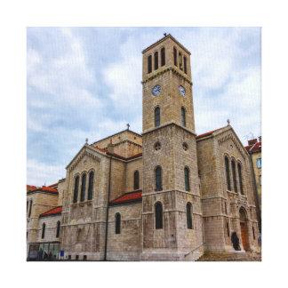 Impressão Em Tela A igreja de St Joseph em Sarajevo. Bósnia e Herz